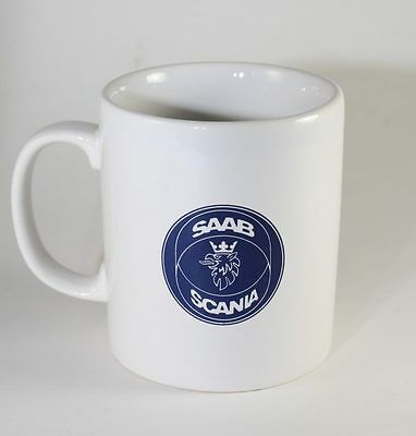 "Saab Scania 10 oz Cup Mug  Kilncraft England  ""Your One For The Road""  REDUCED"