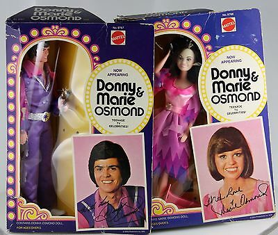 DONNY AND MARIE OSMOND DOLLS 1976 Set Of 2 MATTEL Rare VINTAGE in Box
