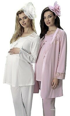 Maternity Pregnancy Nursing Pajama Set 3 Pieces Artis Collection