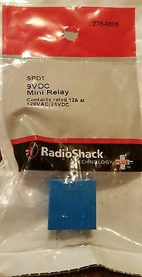 Brand New Radioshack SPDT 9VDC Mini Relay contacts rated 120VAC/24VDC 275-0005
