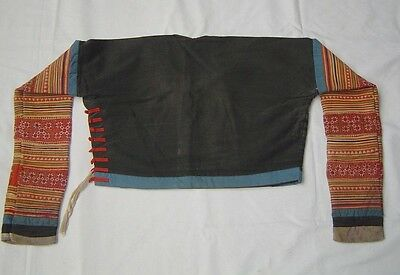 177 Vintage Handstitched Hmong Blouse with Applique & Embroidery