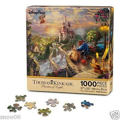 BEAUTY AND THE BEAST FALLING IN LOVE Disney Thomas Kinkade Puzzle NEW 1000 PCS