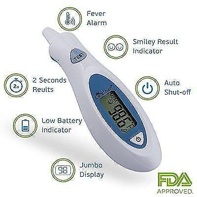 Care Touch Digital Infrared Ear Thermometer, Fast Read For Baby Child and Adult