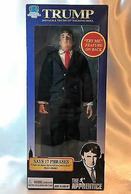 "Talking Donald Trump Doll Action Figure 12"" The Aapprentice Collectible Rare"