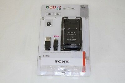 NEW Genuine Sony 5V Battery Charger for Most Sony X/G/N/D/R/T/K Batteries BC-TRX