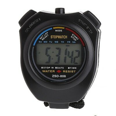 Timer Clock 2x Handheld Stopwatch Digital LCD Chronograph Sports Watch Counter