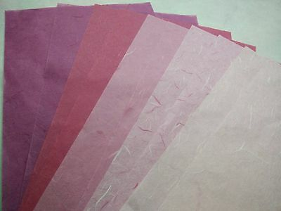 10 Sheets Tissue Lightweight  Wrapping Card Unryu Saa Mulberry Paper Translucent