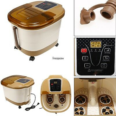 Foot Spa Pedicure Massager Heat Electric Vibration Massage 16L Remote Control