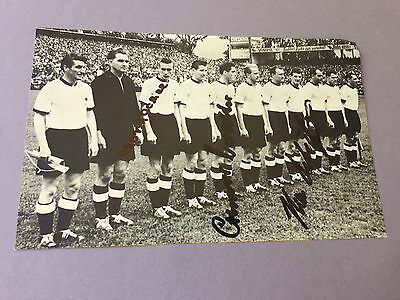 FIFA WORLD CUP 1954 Germany (O. WALTER-H. SCHÄFER-H. ECKEL) signed picture 7.5x5