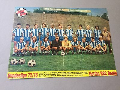 HERTHA BSC 1972/73 In-person signed 19 x signiert Kicker-Magazinbild 20 x 30 cm