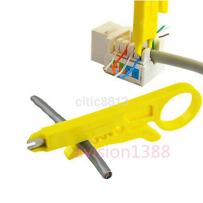 Connection Wire Punch Down Network UTP RJ45 Cat5 Cable Cutter Stripper Plier AU^