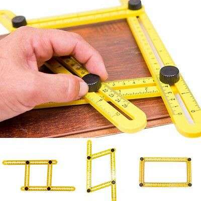 2pcs Measuring Instrument Angle-izer Template Tool Four-sided Ruler Mechanism