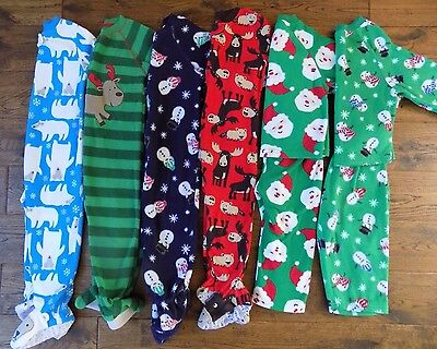 Lot 6 Boys Fleece Mostly Footed Pajamas Sleepers Carters 24 mon/2T