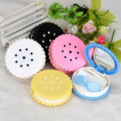 Sweet Cookies 1 Pcs Colored Contact Lenses Box Random Color Case Eyewear Cases