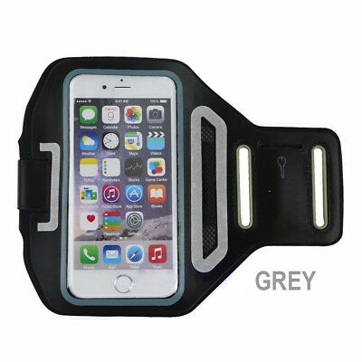 Sports Gym Running Exercise Slim Armband for iPhone 6 6S 7 Arm Band Case Grey
