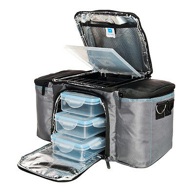 BeFit Bag Grey - Complete meal prep insulated cooling bag 3 food containers