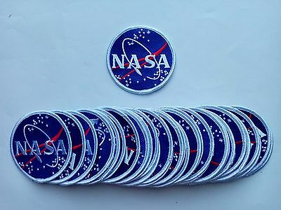 """50 USA NASA Embroidered Patches 3"""" Diameter"""