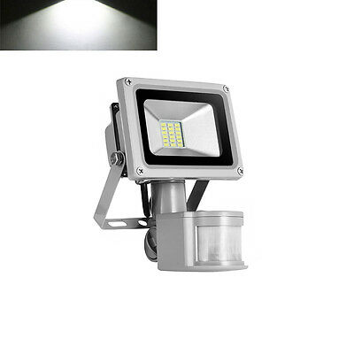 20W PIR Motion Sensor LED Floodlight IP65 Outdoor Security Lamp Cool White