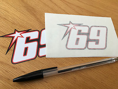 Nicky Hayden No69 Race Number (Small Pair)