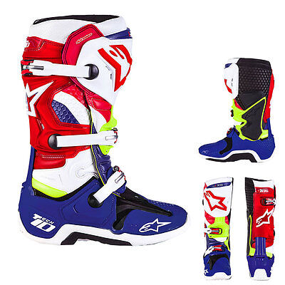 Alpinestars Tech 10 LE Nations Leather MX Motocross Offroad Boots