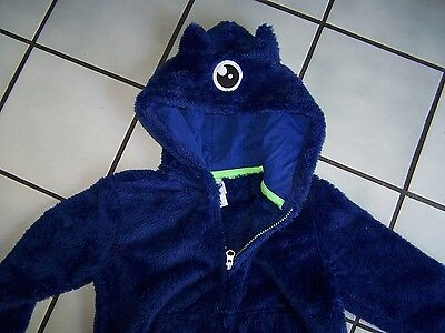 "Boys~3T~Zip Animal Lightweight Hooded Jacket~""Furry Blue Monster""~Circo~NWOT!"