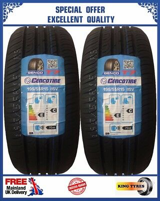 2 x 195/55R15 85V TOEE TYRE NEW 2 QUALITY TYRES.1955515 LOW PRICE BUDGET
