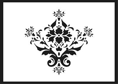 Damask, Shabby Chic Stencil Design No.3 Vintage Furniture Crafts Fabric French