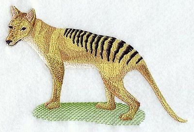 """Tasmanian Tiger, Wild Animal, Cat Embroidered Patch 6.8"""" x 4.5"""""""