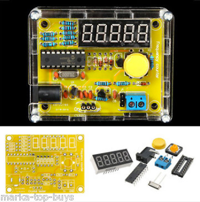 DIY Frequency Tester 1Hz-50MHz Crystal Counter Meter With Housing Kit