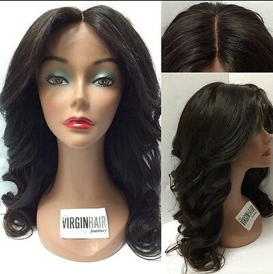 8A Unprocessed Glueless Brazillian Lace Front Human Hair Wig 14inches