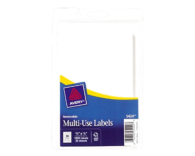 1050-Pack 5/8X7/8-Inch Avery Multi-Purpose Self-Adhesive Removable Labels White
