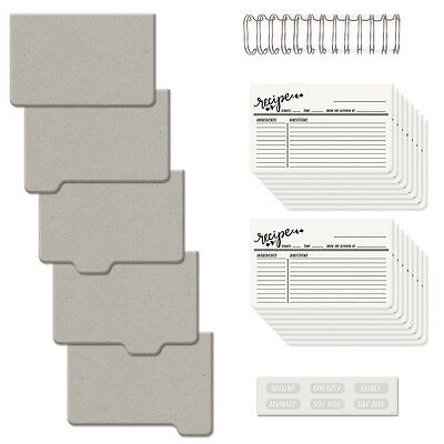 """Cinch Recipe Book Kit 6""""X7"""" Covers, Pages & Wire 62362"""