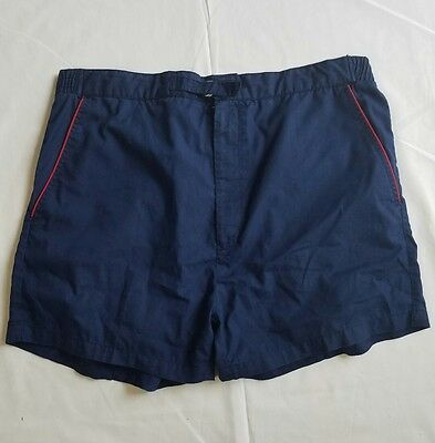 Christian Dior Monsieur Mens VTG  Board Shorts Swim Trunks Blue Red Size Large