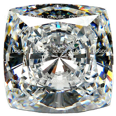Cubic Zirconia Super Quality Loose Simulated Cushion Shape 7 Stars Clear Cz Usa