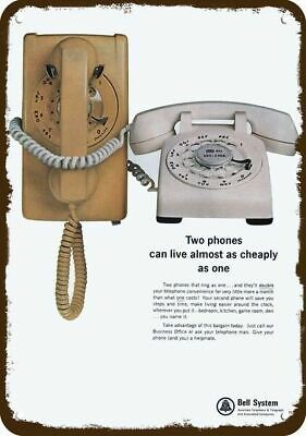 1966 BELL SYSTEM Vintage Look Replica Metal Sign - RETRO ROTARY TELEPHONE