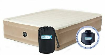 Aerobed Comfort Raised King Airbed. Inflatable Guest bed