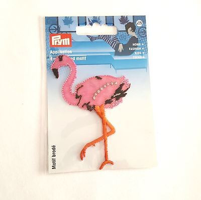 1 thermocollant flamand rose - 60x88mm - applique a coudre