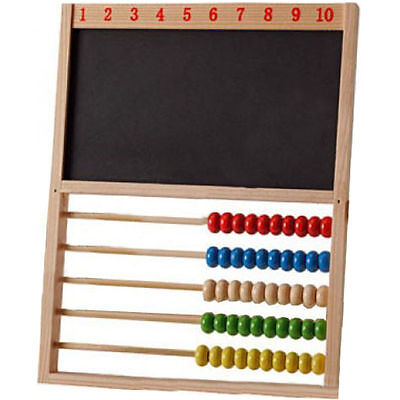 Traditional Chalk Board Wooden Abacus Educational Creative Toy Childminders New