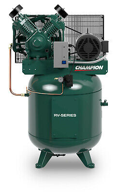 THE BEST 7.5hp Two Stage Single Phase 80Gal Vertical Champion Air Compressor NEW