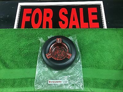 1960's N.o.s Firestone Tire Ashtray With Original Bag.  Awesome Condition
