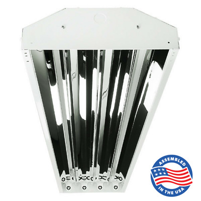 4 Bulb / Lamp T8 LED Ready High Bay Warehouse, Shop, Commercial Light Fixture