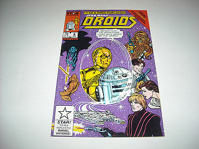 Droids #6 Comic Book Marvel 1987 Star Wars Cartoon C3P0 R2-D2 First Print 1st