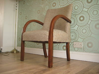 Beautiful  Upholstered Original Art Deco Vintage Lounge/Bedroom/Hall... Chair