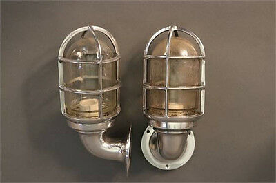 Nautical Light Marine Ship Aluminum Bulkhead Passage Outdoor Light 2 pcs.