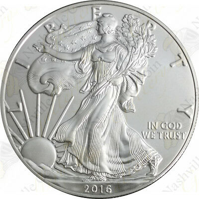 2016 1 oz American Silver Eagle – Brilliant Uncirculated – SKU #1410