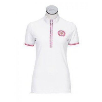 Pikeur Turnier ladies short sleeve competition show shirt white size EU 44 UK 16