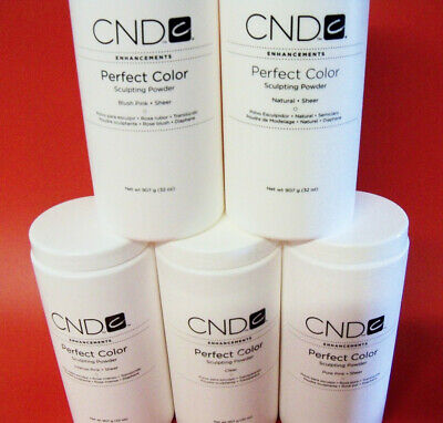 Cnd Perfect Colour Acrylic Pink Clear Nail Powders - Choose Colour & Bag Size