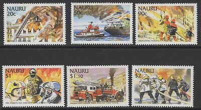 Nauru Sg549/54 2002 Fire Fighters Mnh