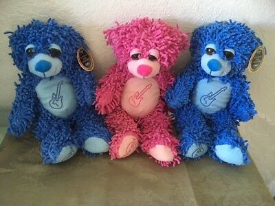 Authentic HARD ROCK PARK CAFE Collectible Teddy Bear Blue Myrtle Beach SC NEW