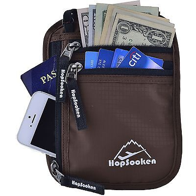 Hopsooken Travel Neck Pouch Passport Holder with Rfid Blocking Use As Travel ...